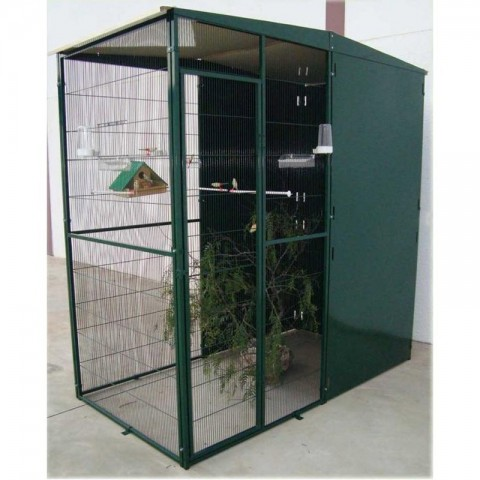 VOLADERA PARA JARDIN DE 2 m2 (2X1m) CON 3 PLANCHAS CORTA-VIENTO