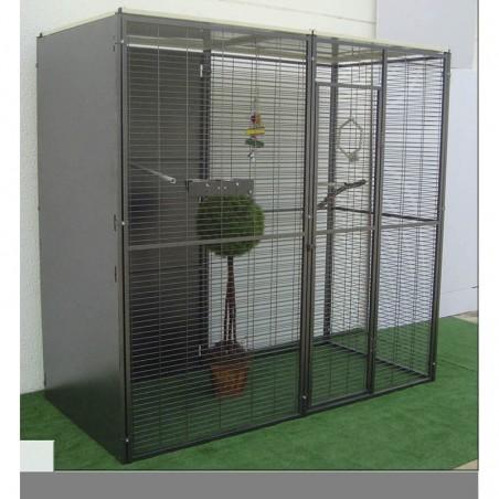 VOLADERO PARA LOROS 2 m2 ( TECHO PLANO)
