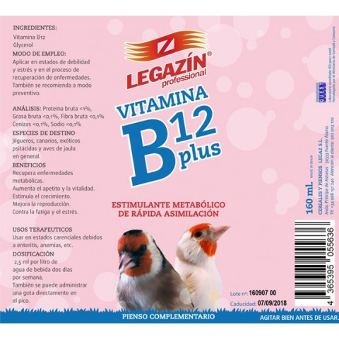 Legazin Vitamina B12 Plus