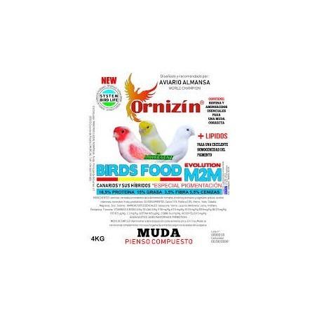 Ornizin Pienso M2M - Muda (Canarios Sin Dore)
