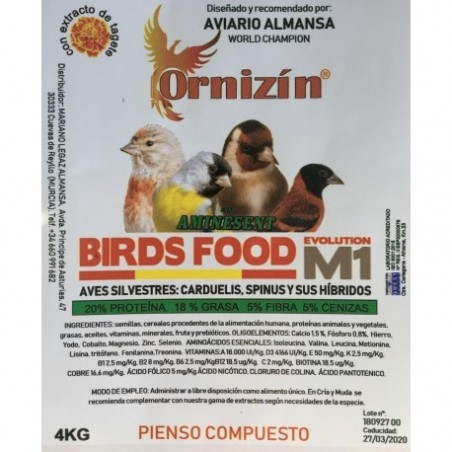 Ornizin Pienso M1 (Fauna y Silvestres)