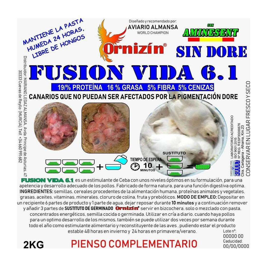 Ornizin Fusion Vida 6.1 Sin Dore