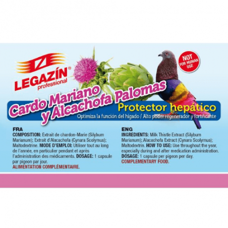 Legazín Protector Hepático Cápsulas Palomas
